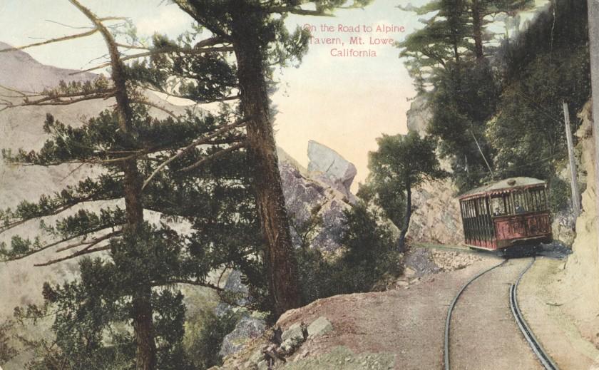 On the Road to Alpine Tavern - Mt. Lowe, California