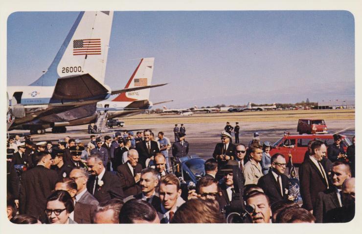 vice-president-johnson-governor-john-connally-presidential-party-and-newspaper-men-love-field-dallas-texas_10986369143_o