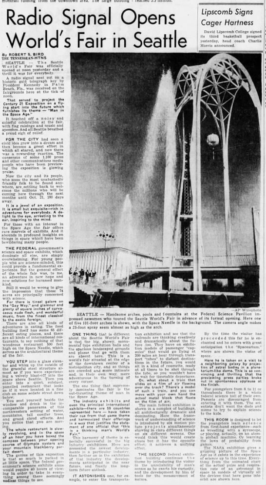 The Tennessean, 22 Apr 1962, Sun, BLUE STAR Edition, Page 17