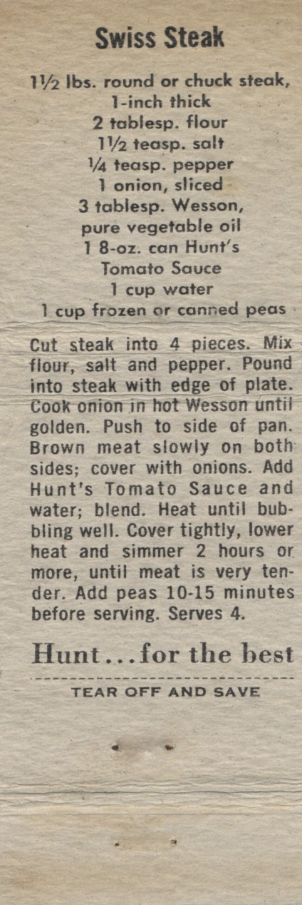 Swiss Steak, 1960 (2)