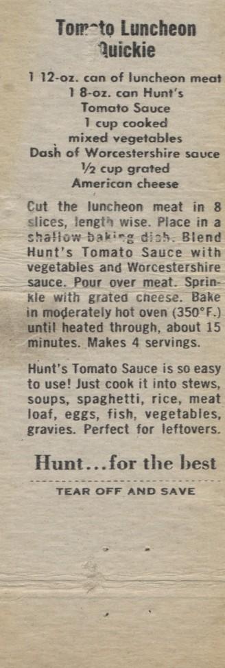 Tomato Luncheon Quickie, 1960 (2)