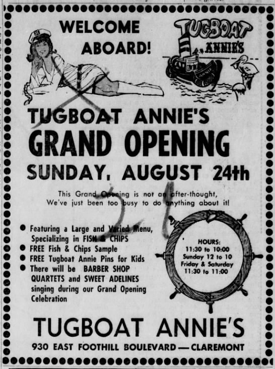 CA - Tugboat Annie's Progress Bulletin, 24 Aug 1969, Sun, Page 54