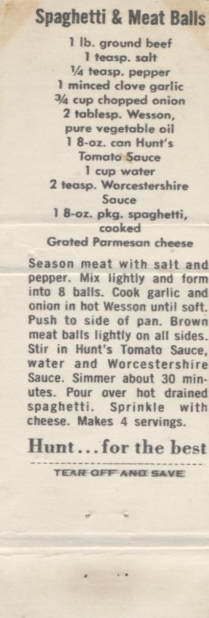 Spaghetti & Meat Balls, 1960 (2)