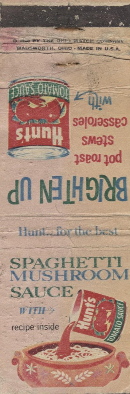 Spaghetti Mushroom Sauce, 1960 (1)